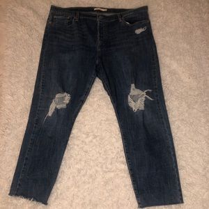 Levi's Distressed Wedgie Skinny Jeans (Plus size)